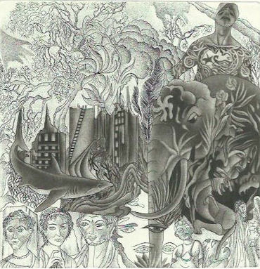 "EXL J.H. (Johan Hellekate), ""Civitanatura"",C3,C7, mm. 150x145 – 2015"
